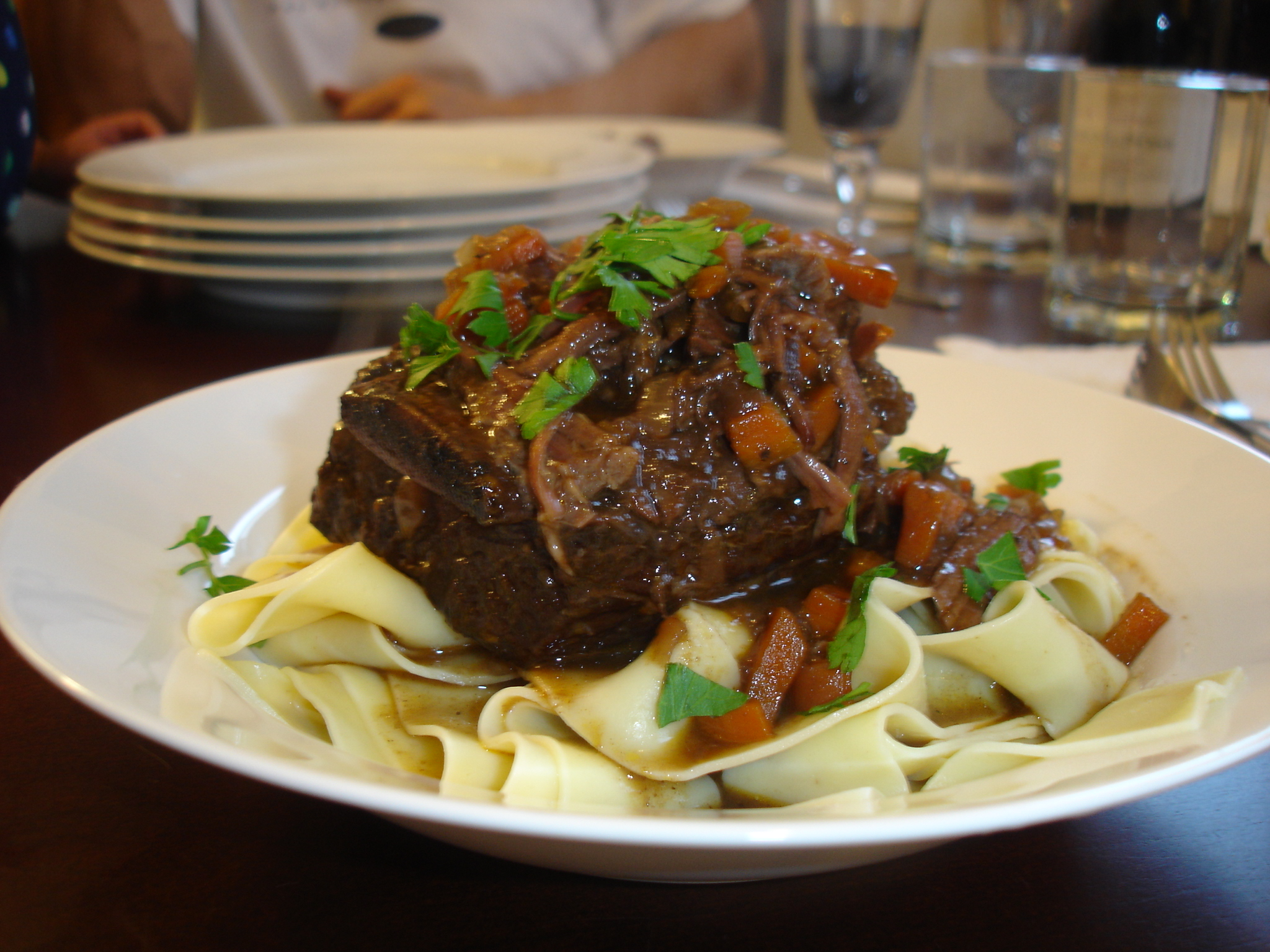 Braised Short Rib Ragu with Fresh Papparedelle Pasta (Adapted from ...