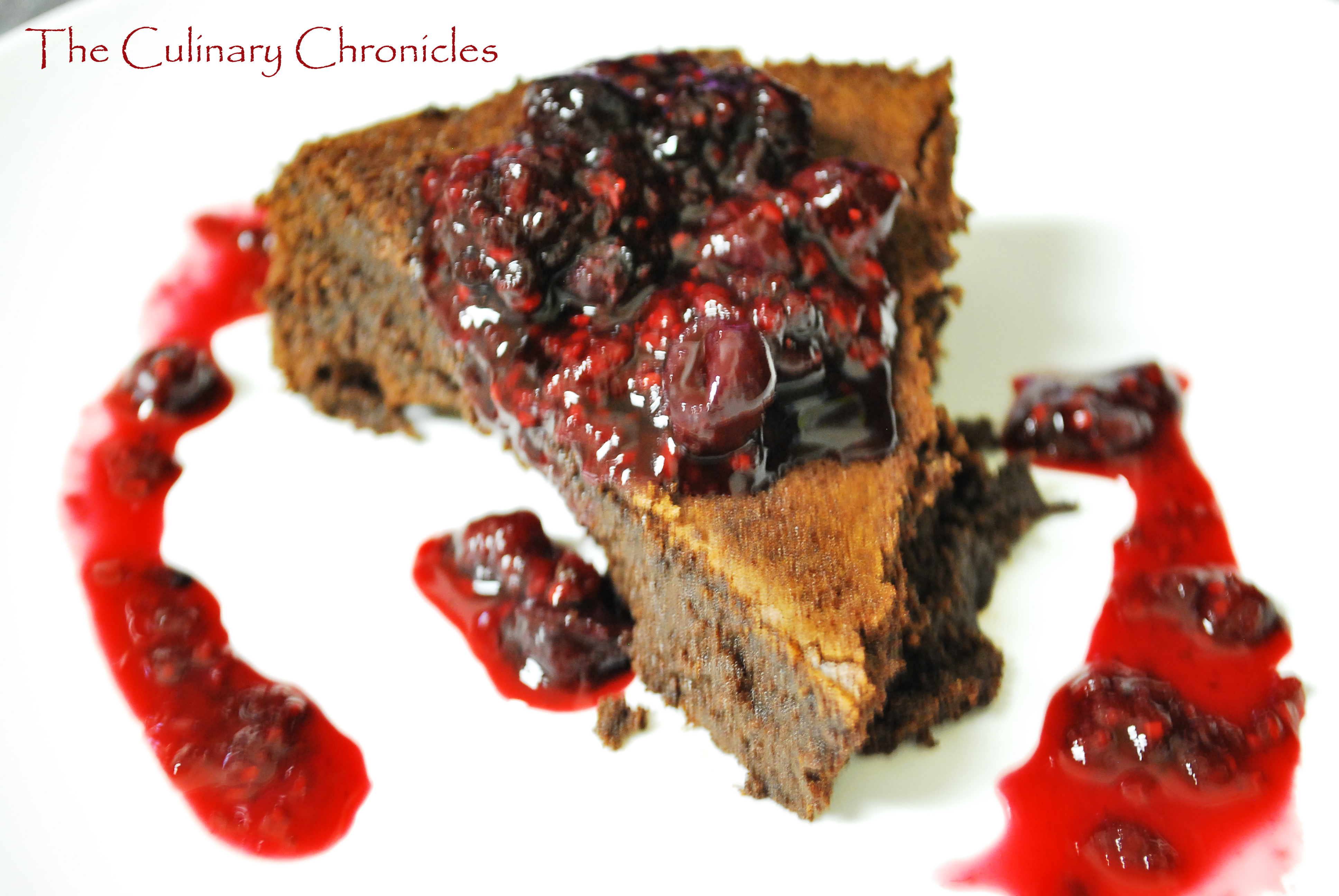Dark Chocolate Torte With Spiked Blackberry Coulis Recipe ...