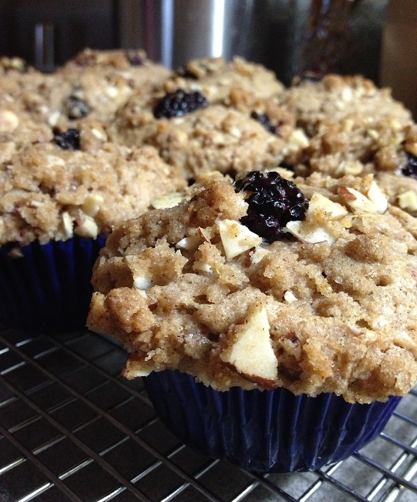 Blackberry Muffins topped with Almond Streusel | The Culinary ...