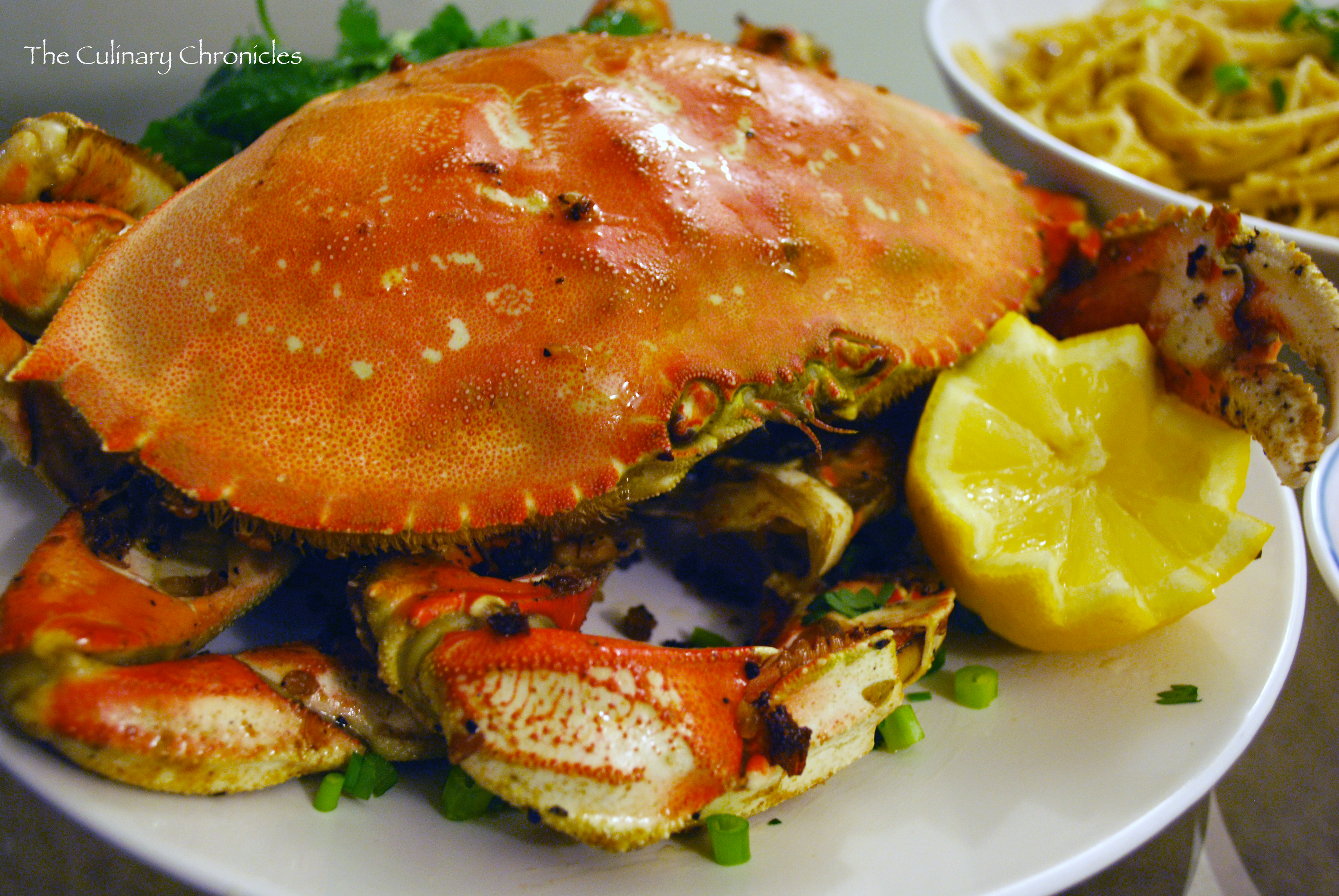 Roasted Garlic Dungeness Crab With Garlic Noodles